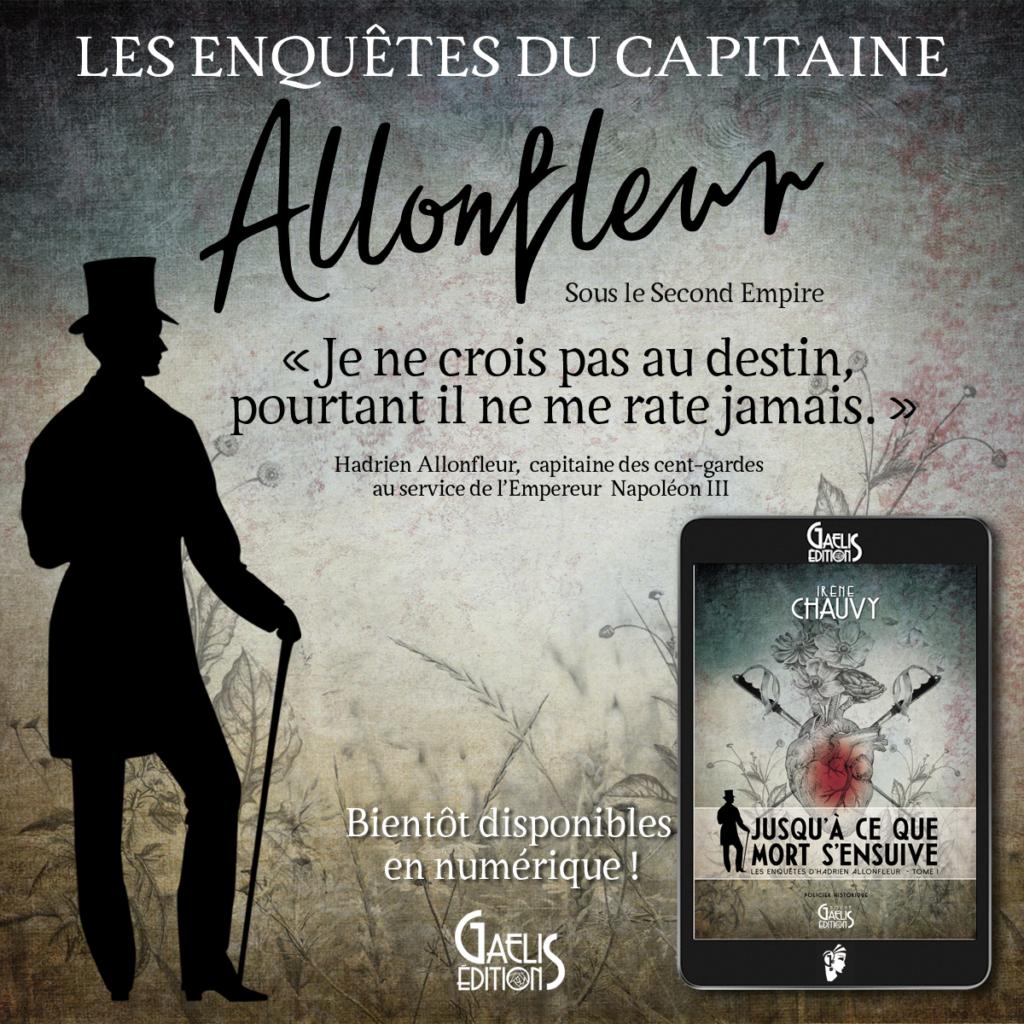Les Enquêtes d'Hadrien Allonfleur-pensée-Irène Chauvy-Gaelis Editions