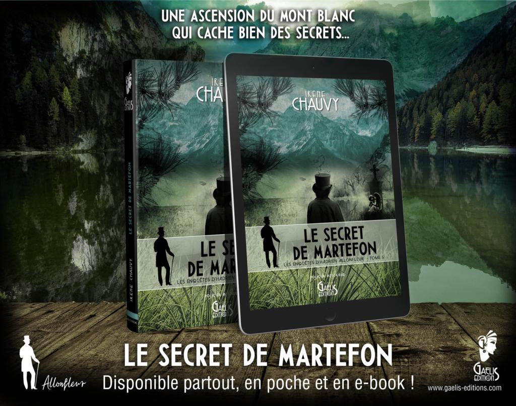 Le Secret de Martefon-Irène Chauvy-Tome 5 des Enquêtes d'Hadrien Allonfleur-Gaelis Editions